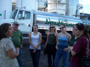 At the Dairy Products Factory - Veterinary Abroad Educational Program